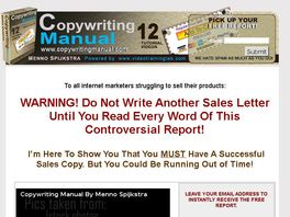 Go to: Copywriting Manual - High Converting Sales Copy Course!