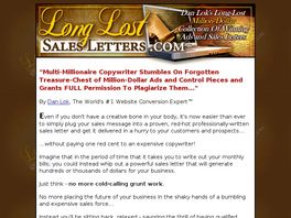 Go to: Long Lost Sales Letters