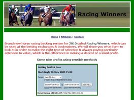 Go to: Racing Winners