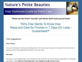 Go to: Nature's Petite Beauties: Your Optimum Guide To Finch Care