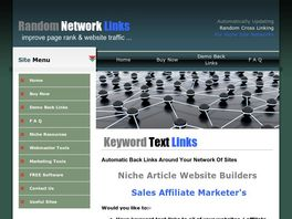 Go to: Random Back Linking Script For Niche Websites And Affiliate Links.