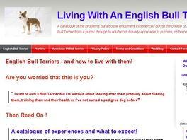 Go to: Learning To Live With An English Bull Terrier From Puppy To Adult