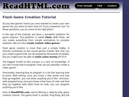 Go to: Flash Game Creation Tutorial.