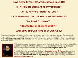 Go to: Reducing Stress At Work Audio Presentation