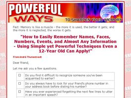 Go to: Powerful Ways To Sharpen Your Memory