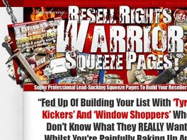Go to: Resell Rights Warrior - Affiliates Earn 50% Commissions
