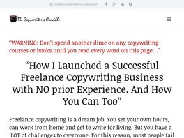 Go to: Starting A Freelance Copywriting Guide