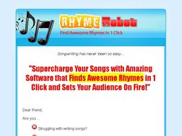 Go to: Earn 75% Promoting Rhyme Software