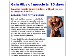 Go to: Body Building & Muscle Gain.