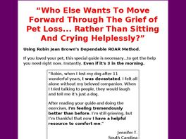 Go to: Recover From The Grief Of Pet Loss.