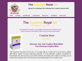 Go to: Instant Creativity- T.s.r.a. Creative Mental Discipline System