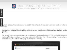 Go to: Action Marketing Plan Software