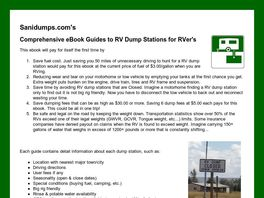 Go to: Know Where To Dump When Your RV Has To Go...
