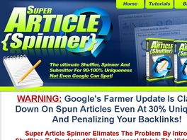Go to: Super Article Spinner - 3-in-1 Shuffler, Spinner And Submitter!