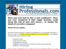 Go to: Hiring For Integrity.