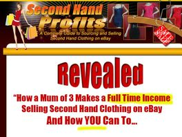 Go to: Second Hand Profits - Making Profits On eBay<sup>&reg;</sup>