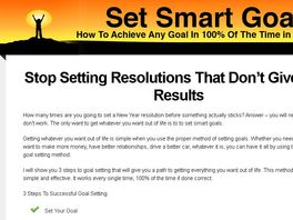 Go to: Set Smart Goals | How To Achieve Any Goal