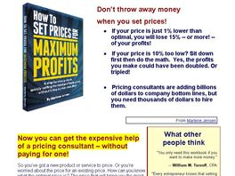 Go to: How To Set Prices For Maximum Profits