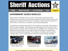 Go to: Sheriff Auctions - Government Auctions.