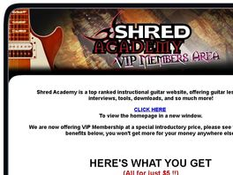 Go to: Guitar Lessons - Shred Academy Vip Membership