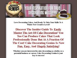 Go to: Cake Decorating Genius