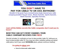 Go to: Cable Descramblers Plans Get Free Cable.