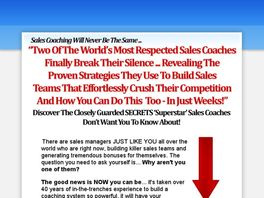 Go to: Sales Manager Mastery Coaching System.