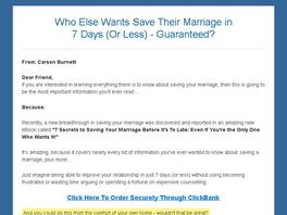Go to: 7 Secrets To Saving Your Marriage Before It's To Late