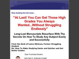 Go to: How To Make Studying Easier and Quicker and Get Better Grades