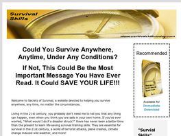 Go to: Secrets To Staying Alive Anywhere And Anytime!