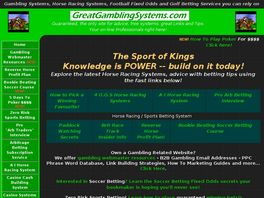Go to: Betting Systems - Great Gambling Systems.