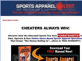 Go to: Sports Apparel Alert| How To Build Your Sports Apparel Empire!