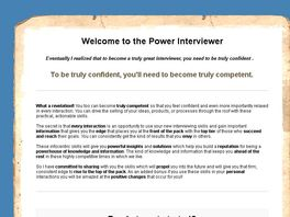 Go to: The Power Interview