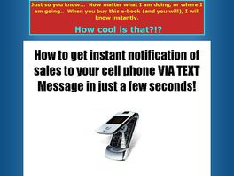 Go to: Get instant notification of sales to your cell phone Via Text Message!