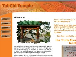 Go to: Tai Chi Temple Form Series And Membership