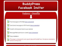 Go to: Buddypress Facebook Friends Inviter