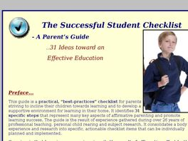 Go to: The Successful Student Checklist - A Parent's Guide.