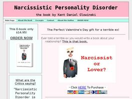 Go to: Narcissistic Personality Disorder, The Book.
