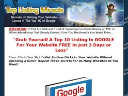Go to: Google Top Listing Miracle - Free Traffic.