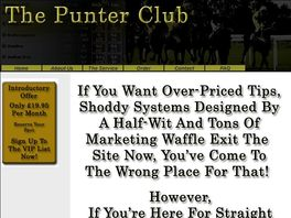 Go to: The Punter Club