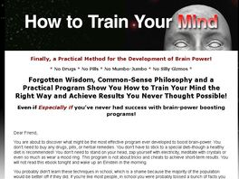 Go to: How To Train Your Mind