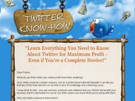 Go to: Twitter Know How - Affiliates Earn 50% Commissions