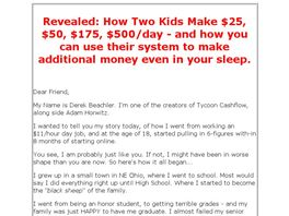 Go to: Tycoon Cashflow - New From Adam Horwitz & Derek Jay...