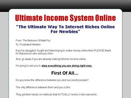 Go to: 75% Commision - Ultimate Income System Online