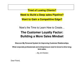 Go to: Build Your B2b Business, Drive Sales Pipeline, Create Customer Loyalty