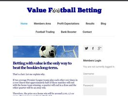 Go to: Value Football Betting - Football Software Generating Profits