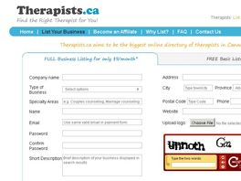 Go to: Therapists.ca directory - Earn 50% per listing every month