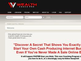 Go to: Wealth Coaching Program