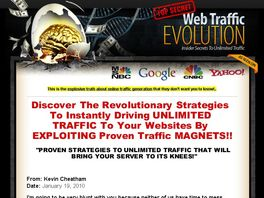 Go to: Web Traffic Evolution - 70% Commission
