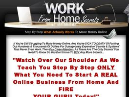 Go to: Work From Home Secrets - Home Study Course